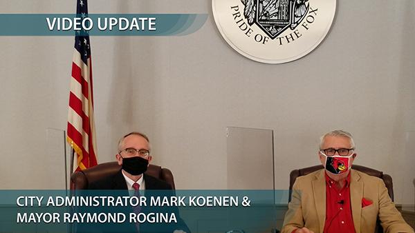 Photo of Mayor Rogina & Mark Koenen
